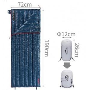 Спальник пуховий Naturehike CW280 update, синій (NH17Y010-R)