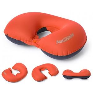 Надувна подушка на шию з кнопкою Naturehike, помаранчева (NH17T013-U)