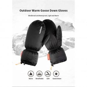 Пухові рукавиці  Naturehike, чорні (NH18S022-T)