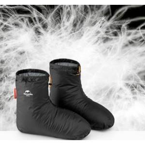 Зимові пухові шкарпетки-чуні Naturehike розмір 36-40, чорні (NH18S023-T)