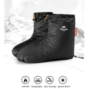 Зимові пухові шкарпетки-чуні Naturehike розмір 40-44, чорні (NH18S023-T)