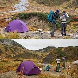 Двомісний намет Naturehike Mongar 2, фіолетовий (NH17T007-M)