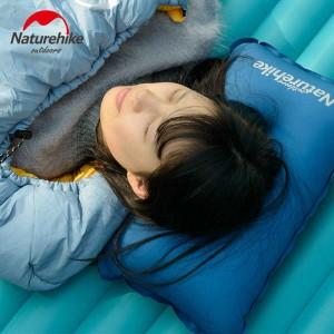 Подушка самонадувна кемпінгова Naturehike, бірюзова (NH17A001-L)