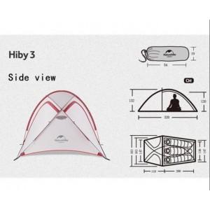 Тримісний намет Naturehike Hiby, сірий (NH18К240-Р)