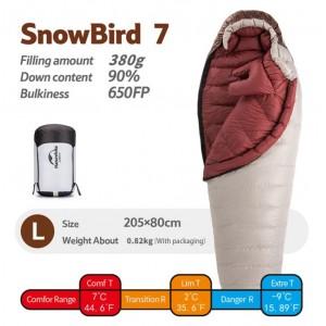 Спальник пуховий Naturehike Snowbird 7 хакі ( NH20YD001)