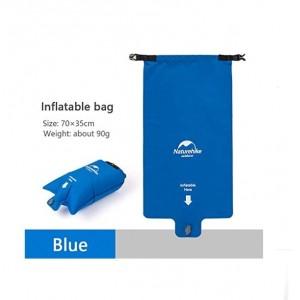 Подушка/гермомішок/насос для надування килимка Naturehike, синя (NH19Q033-D)